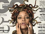 Rihanna poses naked with snakes for magazine cover
