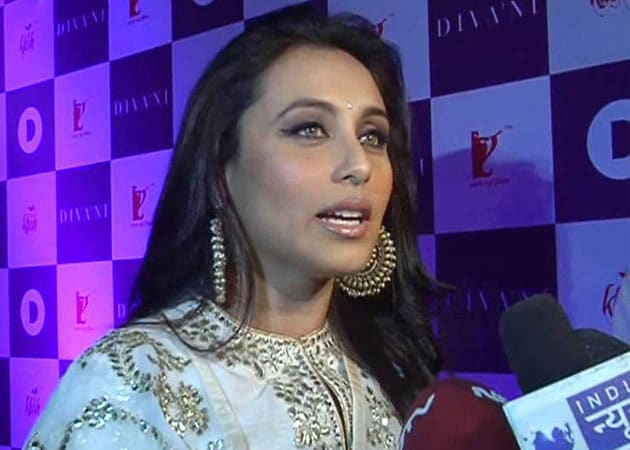 Rani Mukherji wears white for Yash Chopra