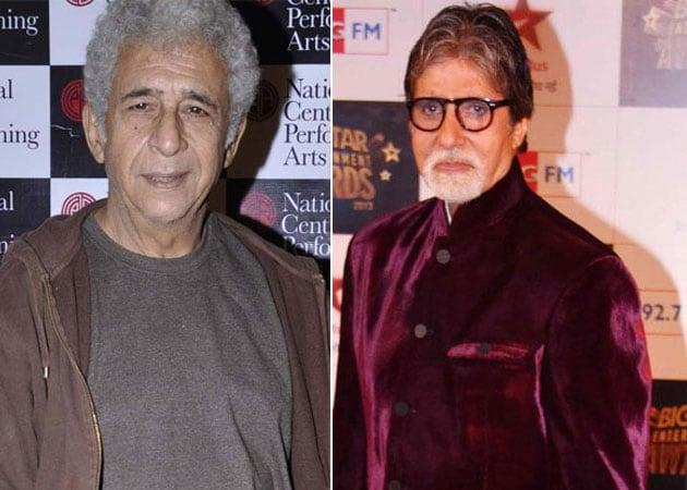 Naseeruddin Shah : Amitabh Bachchan made unconventional faces acceptable