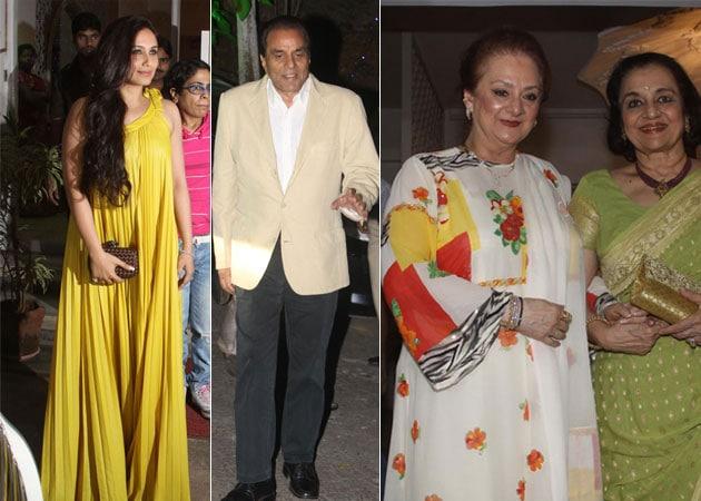 Rani, Dharmendra, Asha Parekh attend Dilip Kumar's birthday celebrations