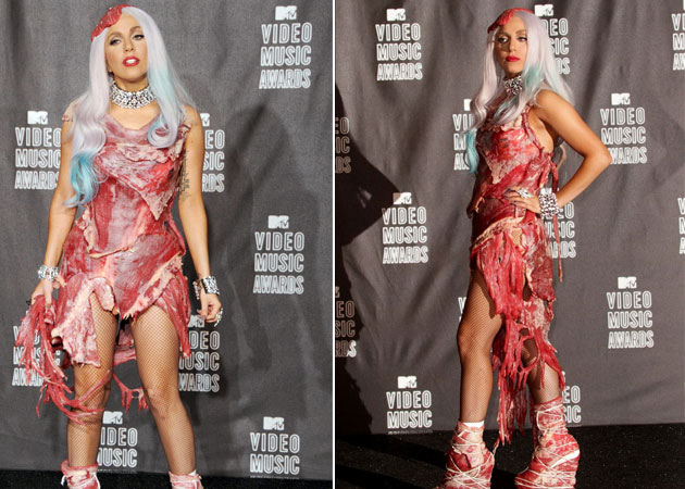 Lady Gaga's meat dress named most controversial red carpet moment