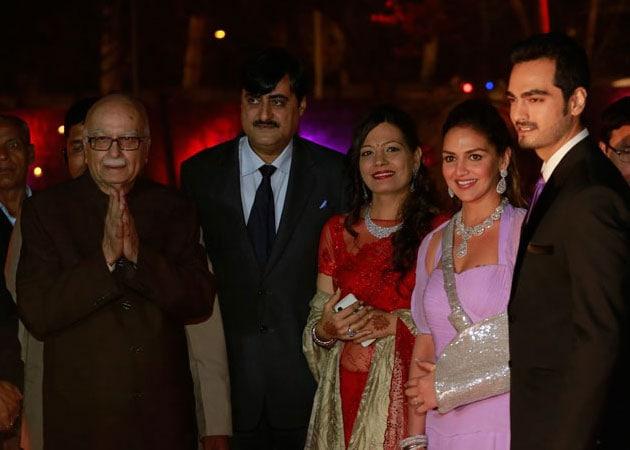 At Ahana Deol's Delhi reception, L K Advani, Sushma Swaraj and other VIP guests