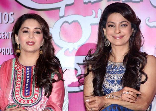 Juhi Chawla and Madhuri Dixit to promote Gulaab Gang on Boogie Woogie