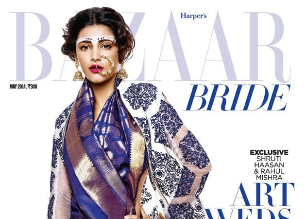 Shruti Haasan showcases bridal look on Harper's Bazaar cover