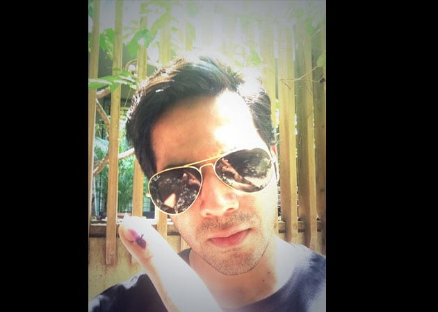 Varun Dhawan's 27th birthday begins with visit to polling booth