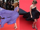 Cannes 2014: Jessica Chastain, Cheryl Cole Struggle Down Windy Red Carpet