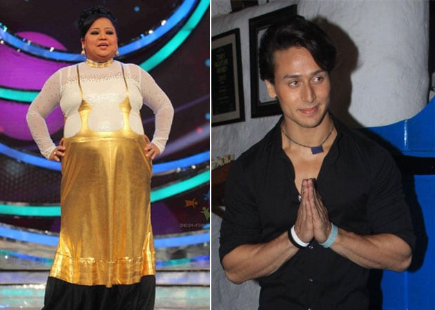 Bharti's Heroine-panti With Tiger Shroff on TV show