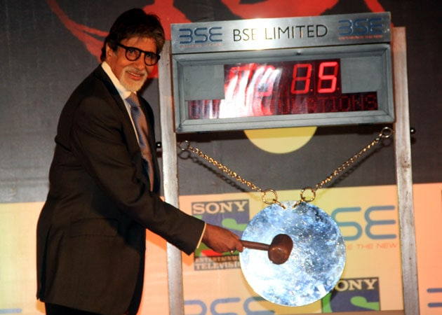 Amitabh Bachchan Rings BSE Opening Bell For TV Show Yudh