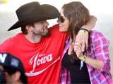 Mila Kunis, Ashton Kutcher Don't Care Who's Watching at Baseball Game