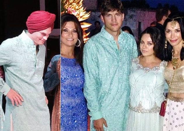 Ashton Kutcher Wears Turban to Ayesha Thapar's Big Fat Italian Wedding