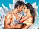 <i>Bang Bang</i> Poster Stars Hrithik Roshan, Katrina Kaif, a Gun and Exploding Sea
