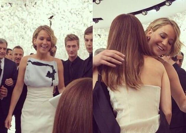 Emma Watson Survives Being Facepalmed by Jennifer Lawrence in Paris