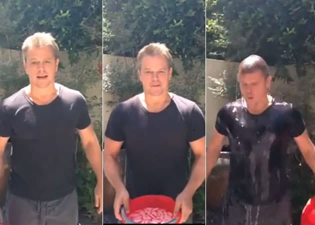 Ice Bucket Challenge: Matt Damon Uses Flush Water. That's Right Flush Water