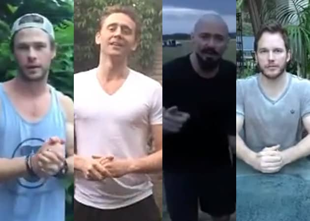 Thor, Loki, Wolverine and Star Lord Take the Ice Bucket Challenge