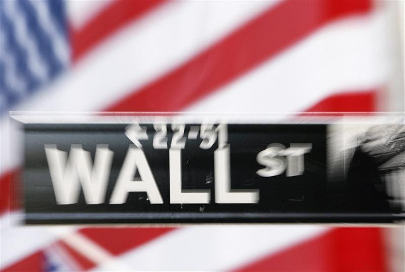 S&P touches highest level since 2008, then falls