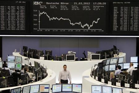 Global shares retreat on growth, euro zone woes