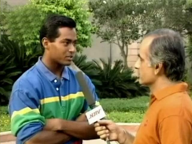 When Leander Paes beat Britain's No. 1 in Davis Cup, 1992