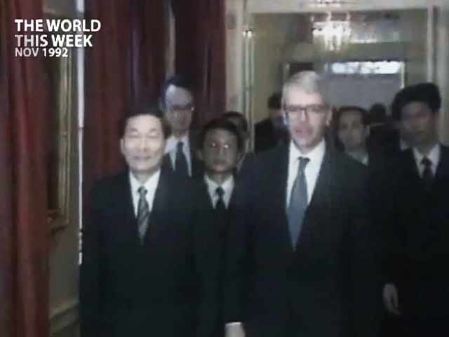 Video : Britain, China headed for a nasty confrontation (Aired: November 1992)