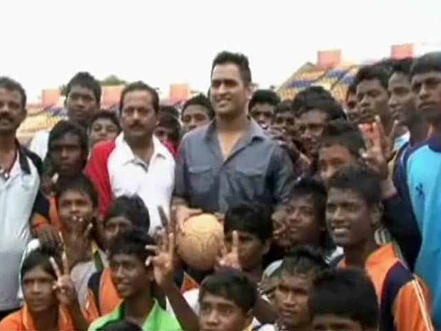 MS Dhoni attends football tournament in Ranchi