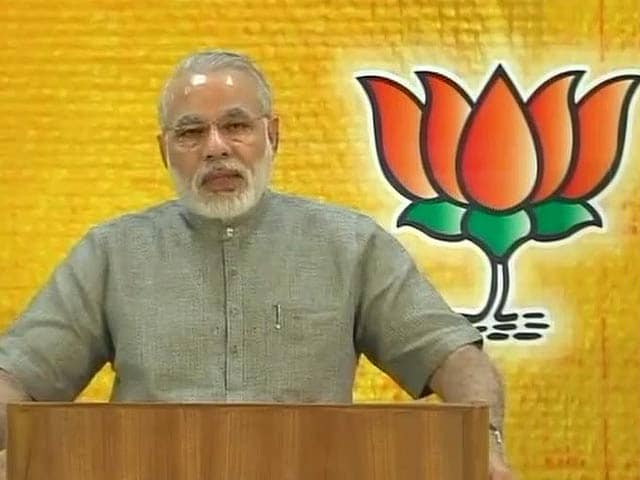 Video : Narendra Modi flaunts Gujarat hat-trick, says time for UPA to give some answers