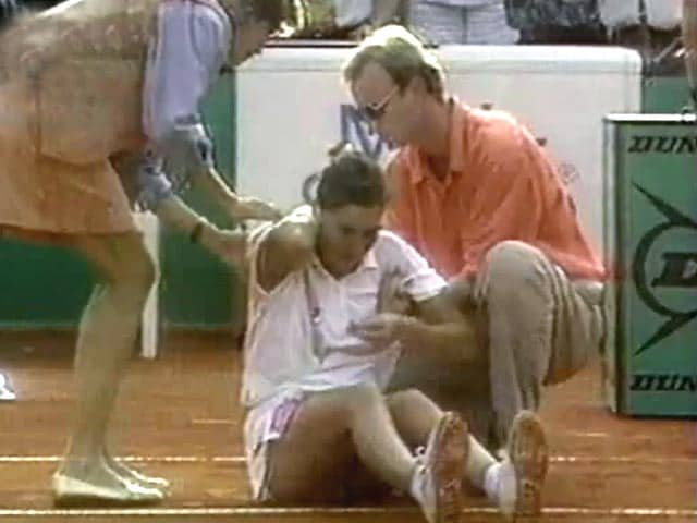 Video : The World This Week: A knife in Monica Seles' back (Aired: May 1993)