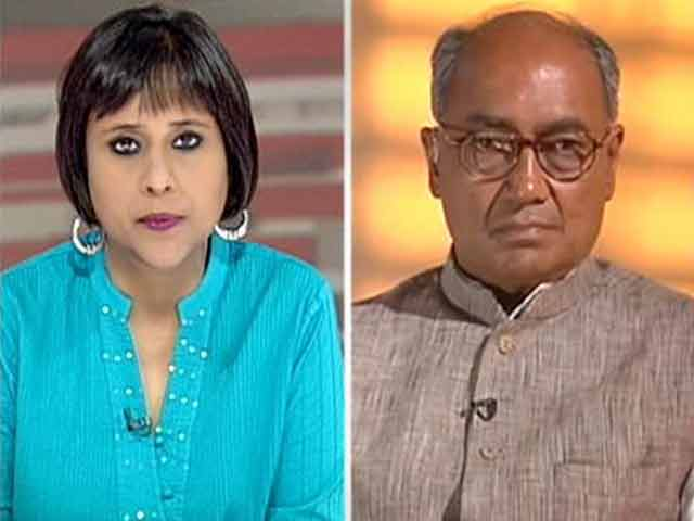 Video : No question of going back on Telangana: Digvijaya to NDTV