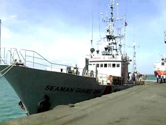 Video : US ship with armed guards seized off Kanyakumari coast