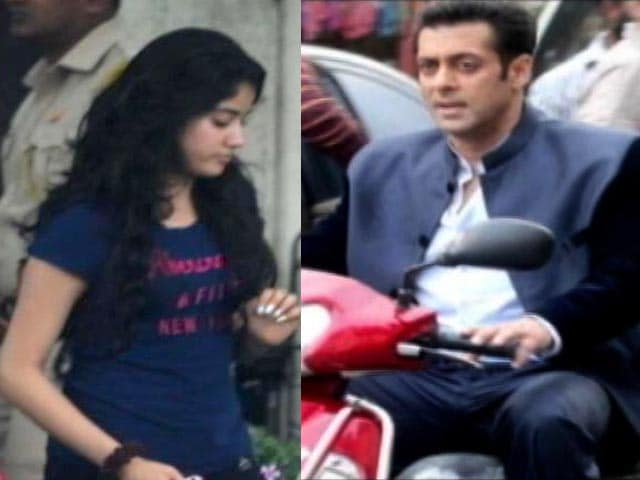 Video : What was Jhanvi Kapoor doing on the sets of Salman Khan's <i>Jai Ho</i>?