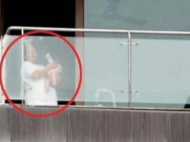 Video : Shah Rukh Khan's son AbRam spotted at Mannat's balcony