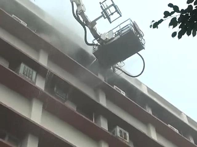 Video : Fire in central Delhi building, no casualties