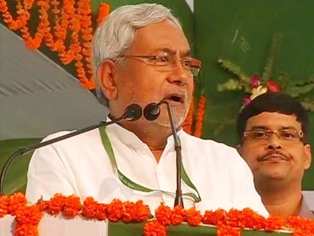 Video : Nobody can beat our rally crowds: Nitish Kumar's dig at Narendra Modi