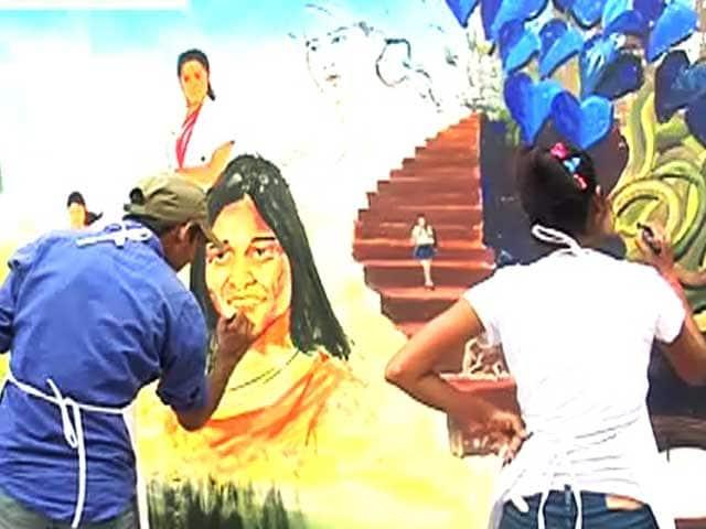 Videos : बेटियों के लिए मुहिम के तहत पेंटिंग्स कॉम्पिटेशन