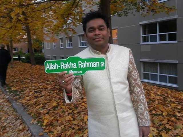 A R Rahman has a street named after him