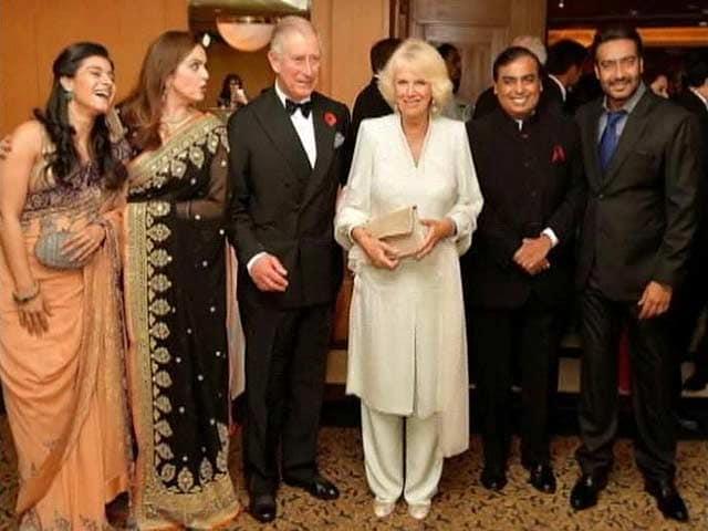 Video : Kajol, Ajay Devgn's date with Prince Charles