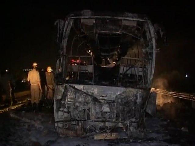 Video : बेंगलुरु से मुंबई जाने वाली बस में आग, सात मरे