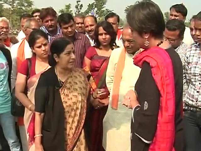 """Video : """"Is Rahul angry young man or social activist?"""" Sushma Swaraj to NDTV"""