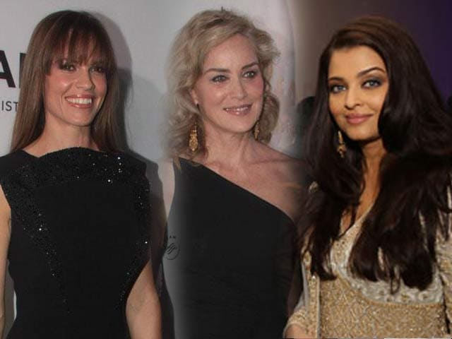 Video : Glam Sharon Stone, Hilary Swank attend Aishwarya Rai Bachchan's amfAR gala