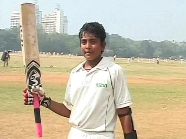Video : Mumbai schoolboy hits record 546 in Harris Shield Under-16 match