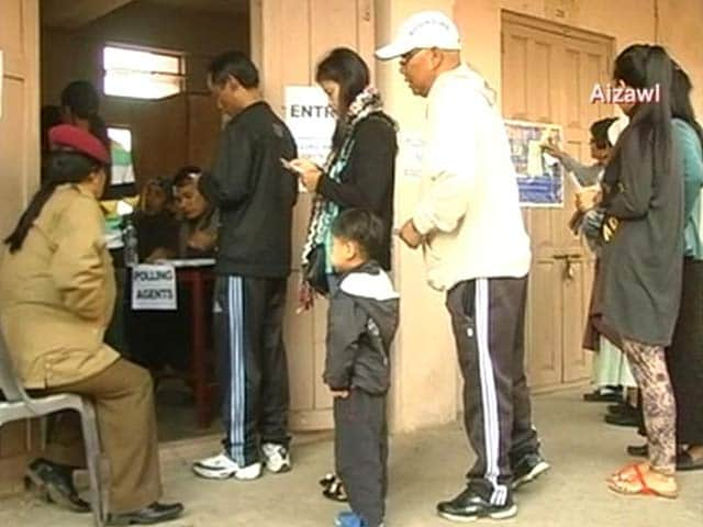 Video : 81 per cent turnout in peaceful polling in Mizoram