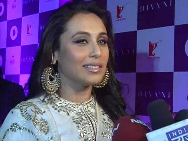 Video : Am dressed up for Yash uncle: Rani Mukherji