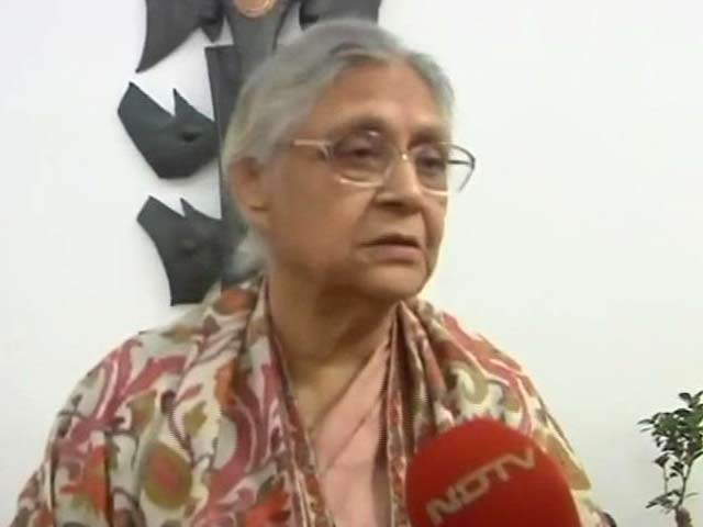 Video : 'Who is AAP? Can you call it a party?' Sheila Dikshit to NDTV