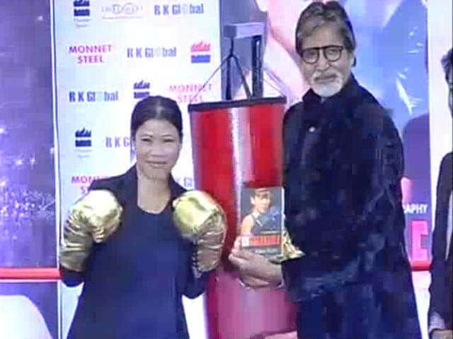 Video : 'Unbreakable' Mary Kom in the ring with Amitabh Bachchan