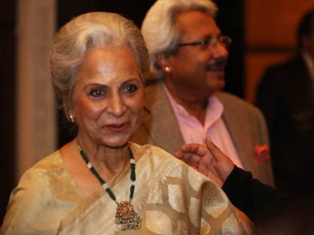 Abroad they love our film music: Waheeda