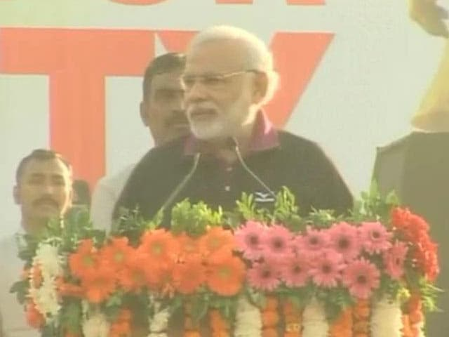 Video : Modi flags off 'Run for Unity' to mobilise support for Sardar Patel statue