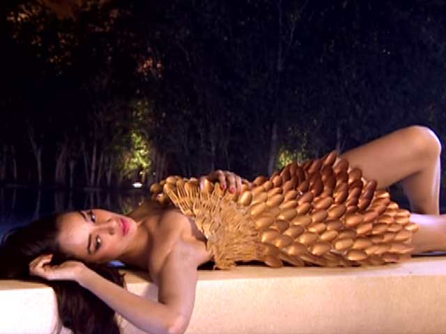 Video : <i>Kingfisher Supermodels</i> sport outfits made of waste materials