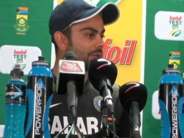 Video : Kohli takes a dig at South African pacers