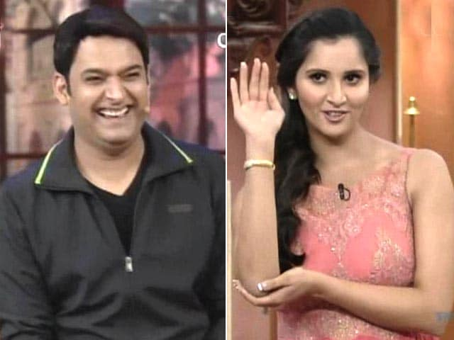 Video : Sania Mirza serves comic volleys on TV show