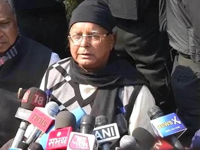 Video : Government should have done more for the riot victims of Muzaffarnagar: Lalu Prasad