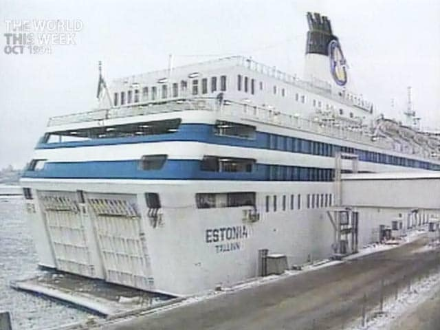Video : The World This Week: The sinking of Estonia (Aired: October 1994)