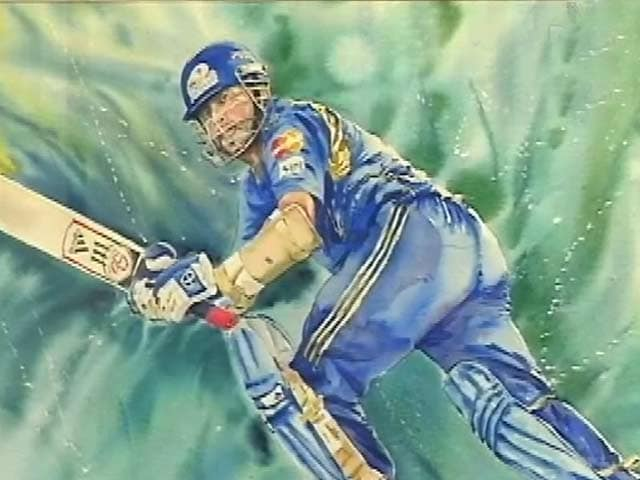 Videos : सचिन पर पेंटिंग : मुंबई में प्रदर्शनी